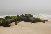 Seascapes - Fog Sits On Bay Head Beach II- Jersey Shore by Angie McKenzie