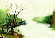 Anil Nene Mixed Media Posters - Fog1 Poster by Anil Nene