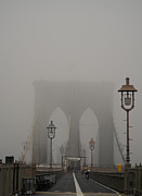 Brooklyn Bridge Art - Fogging Brooklyn by David Bearden