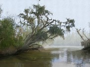 Bayou Digital Art - Foggy Bayou by Forest Stiltner