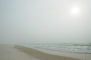 Michael Digital Art Posters - Foggy Beach Poster by Michael Thomas