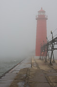 Lighthouse Art - Foggy Day by Adam Romanowicz