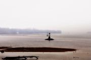 Delaware River Prints - Foggy Delaware River Print by Bill Cannon