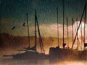 See Digital Art - Foggy evening by Gun Legler