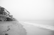 Malibu Beach Prints - foggy Malibu Beach  Print by Ralf Kaiser