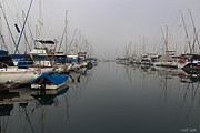 Docked Sailboat Prints - Foggy Morn Print by Heidi Smith