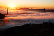 James Kirkikis Art - Foggy Morning San Francisco by James Kirkikis