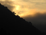 Shane Brumfield Art - Foggy Mountain Sunrise by Shane Brumfield
