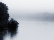 Flood Digital Art Prints - Foggy River Print by Bill Cannon
