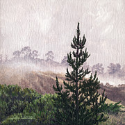 Lynette Cook Paintings - Foggy Stillness by Lynette Cook