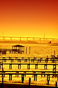 Water Scenes Photos - Foggy Sunset by Emily Stauring