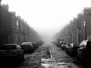 Tees Photos - Foggy Terrace by Paul Downing