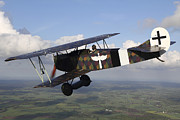 Biplane Photos - Fokker D.vii World War I Replica by Daniel Karlsson