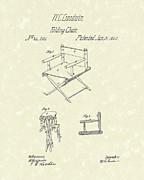 Folding Chair 1862 Patent Art  Print by Prior Art Design