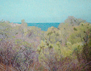 Pointillist Prints - Foliage and Sea Print by Catherine Bath