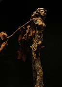 Natural Mixed Media Originals - Foliated Victory a sculpture by Adam Long by Adam Long