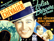 Chevalier Posters - Folies Bergere De Paris, Aka Folies Poster by Everett