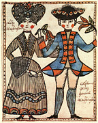 First Ladies Prints - Folk Art: Washingtons Print by Granger