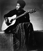 Ethnic Print Framed Prints - Folk Singer Odetta, C. 1960s Framed Print by Everett