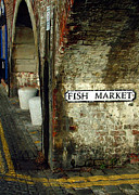 Double Yellow Lines Framed Prints - Folkestone Fish Market Framed Print by Serena Bowles