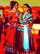 Ballet Dancers Digital Art Prints - Folklorico Dancers Print by Randall Weidner