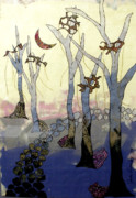 Bare Trees Mixed Media Metal Prints - Follow Me Metal Print by Jude Ongley-Mowris