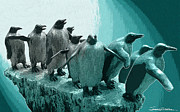 Penguin Mixed Media - Follow the Leader by Jerrett Dornbusch