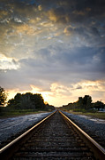 Gravel Road Photo Metal Prints - Follow the Tracks Metal Print by Carolyn Marshall
