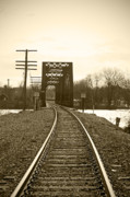 White River Prints - Follow The Tracks Print by Kristine Gates