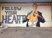 Wynwood Mixed Media - Follow your Heart by Dustin Spagnola