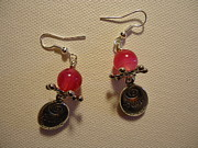 Dangle Earrings Jewelry Originals - Follow Your Heart Pink Earrings by Jenna Green