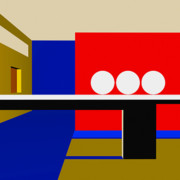 Modernism Prints - Following Through Print by Richard Rizzo