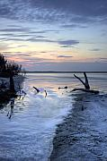 Lowcountry Prints - Folly Beach at Dusk II Print by Dustin K Ryan