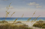 Sand Dunes Paintings - Folly Beach by Cindy Davis