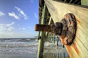 Folly Beach Posters - Folly Beach Pier Decay Poster by Dustin K Ryan