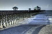 Lowcountry Framed Prints - Folly Beach Pier Framed Print by Dustin K Ryan