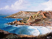 Clay Pastels - Fomm ir-Rih Bay by Martin Formosa