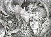Visionary Art Drawings Metal Prints - Fomorii King And Queen Metal Print by Otto Rapp