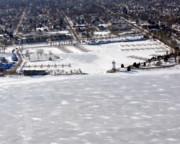 Fond Du Lac Harbor Frozen Print by Bill Lang