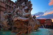 Typical Framed Prints - Fontana dei Quattro Fiumi Framed Print by Inge Johnsson