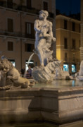 Fontain Metal Prints - Fontana del moro II Metal Print by Fabrizio Ruggeri
