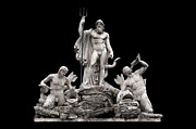 Neptune Framed Prints - Fontana del Nettuno  Framed Print by Fabrizio Troiani