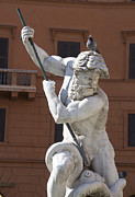 Mythology Photos - Fontana del Nettuno. Neptune Fountain. Piazza Navona. Rome by Bernard Jaubert