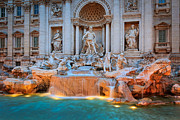 Typical Framed Prints - Fontana di Trevi Framed Print by Inge Johnsson