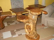 Sculptured Sculptures - Fontomfrom004 Stem Table by Osei Adjekum