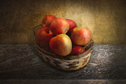 Gift For Dad Posters - Food - Apples - Apples in a basket  Poster by Mike Savad
