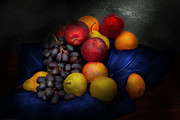 Blue Grapes Photos - Food - Fruit - Fruit still life  by Mike Savad