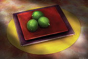 Bar Photos - Food - Limes by Mike Savad