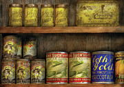 Corns Prints - Food - Old Cans Print by Mike Savad