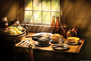 Food - Ready For Guests Print by Mike Savad
